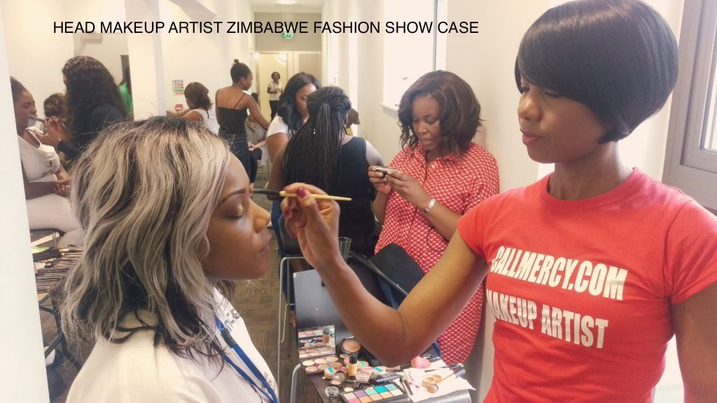 HEAD MAKEUP ARTIST ZIMBABWE FASHION SHOW CASE